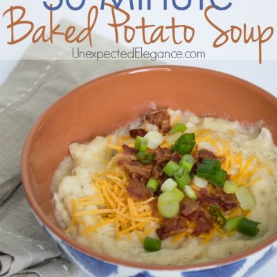 The BEST Baked Potato Soup | Ready in 30 MINUTES