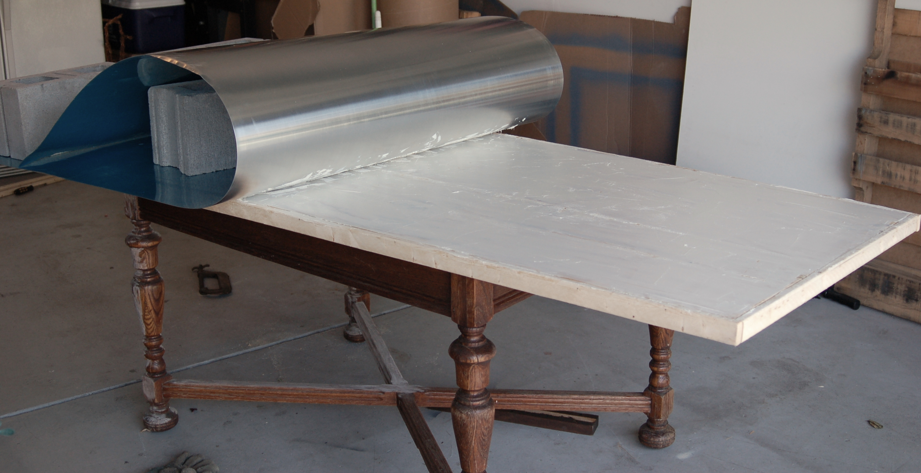 Galvanized metal top dining table - Zinc Table Tutorial Unexpected Elegance