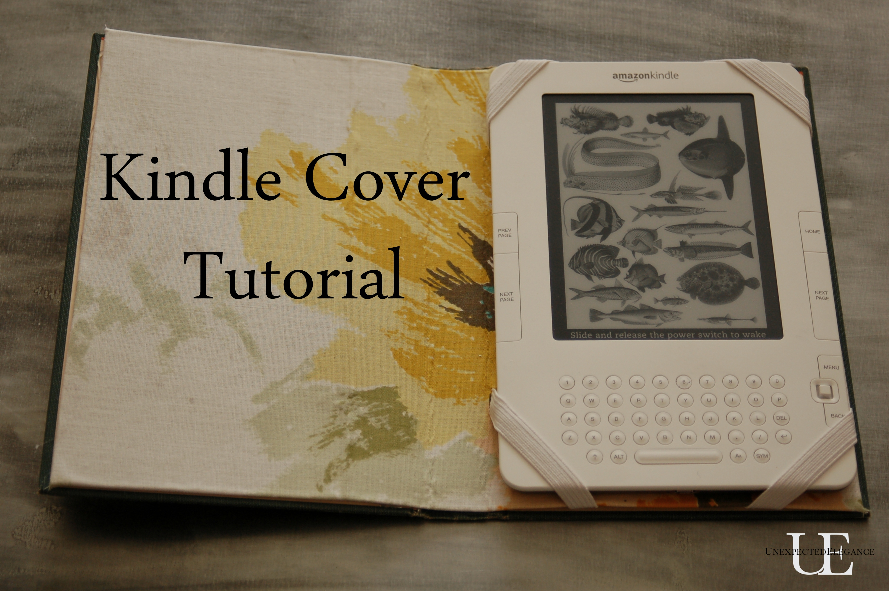 Kindle Book Cover Diy : Kindle nook or ipad cover tutorial