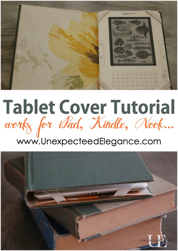 Old Fashioned Book Kindle Cover : Kindle nook or ipad cover tutorial