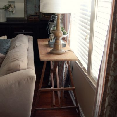 ironing board to sofa table