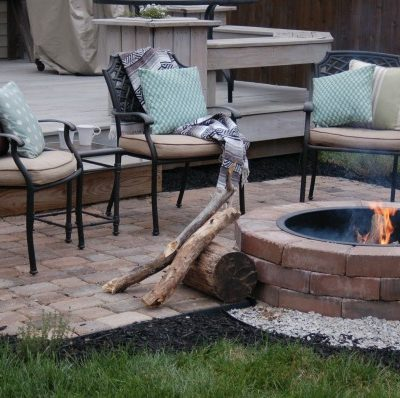 cool summer nights and finished firepit