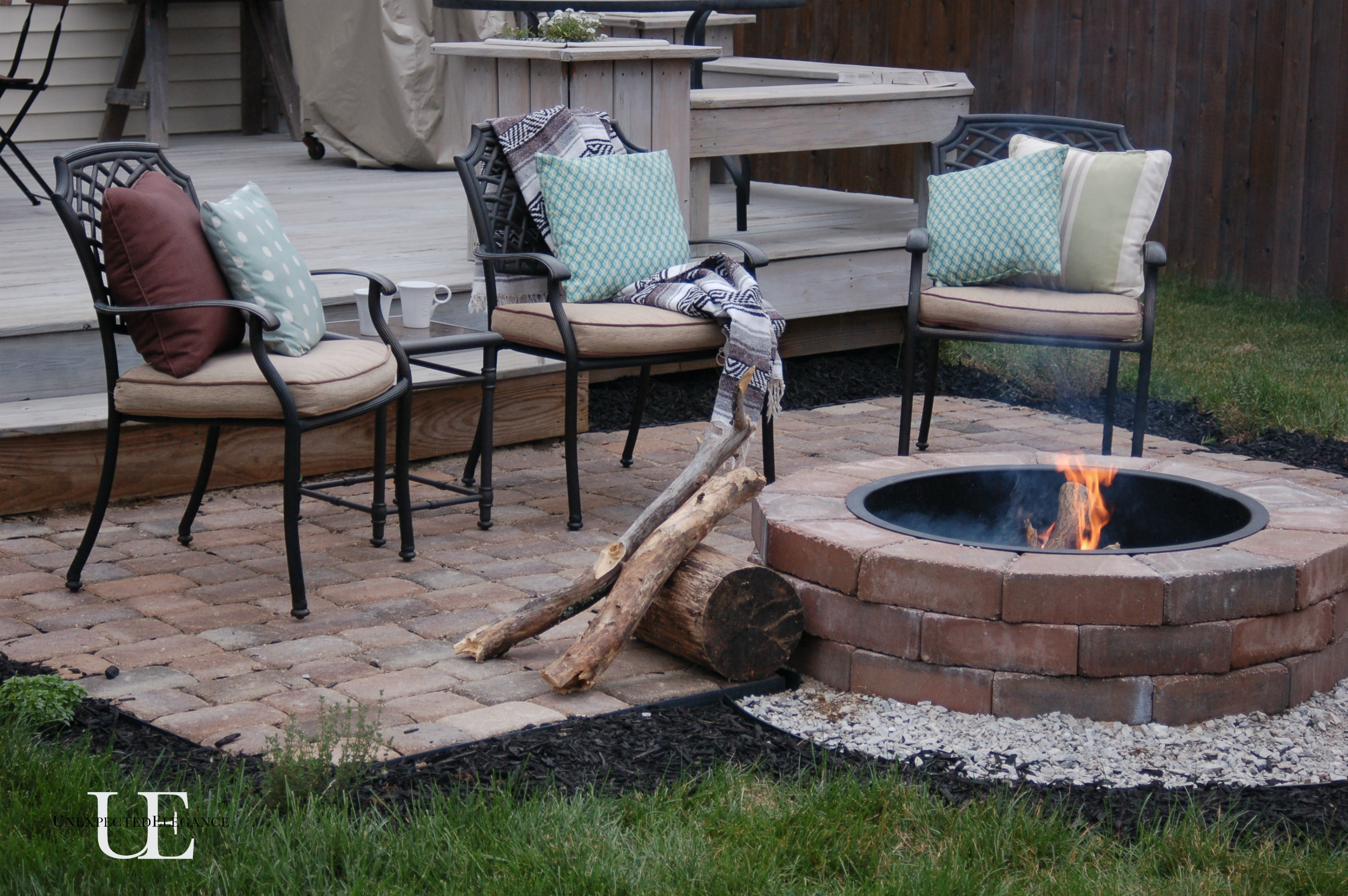 Backyard Fire Pit Diy : cool summer nights and finished firepit