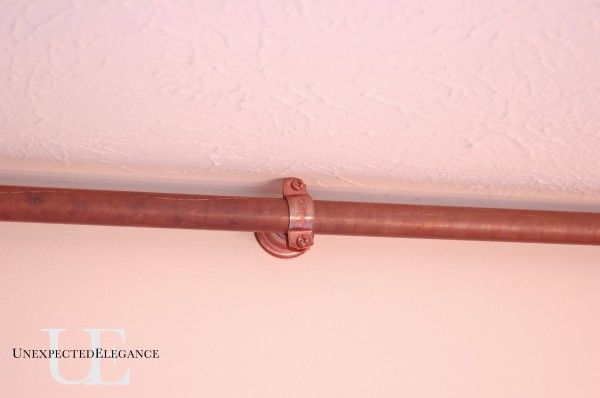 diy copper curtain rod for my french doors unexpected