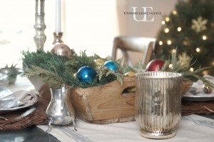 Christmas centerpiece from Unexpected Elegance