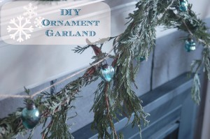 DIY Ornament Garland for Christmas at Unexpected Elegance