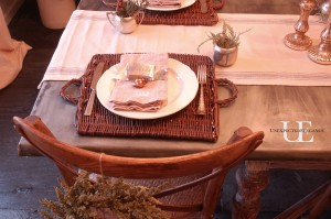 Table setting for Christmas from Unexpected Elegance