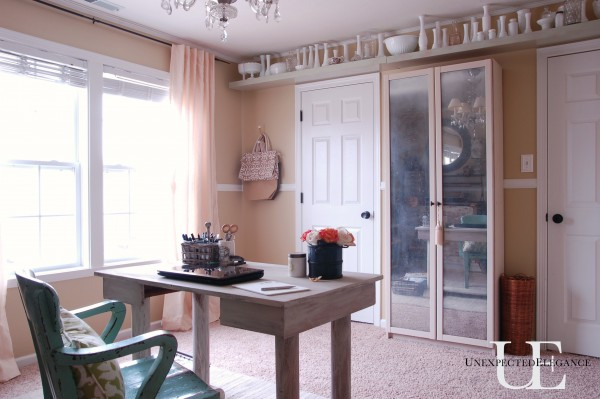 DIY Mirrored Cabinet from Unexpected Elegance