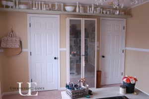DIY Mirrored Cabinet