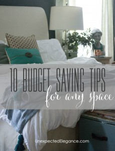 10 Budget Saving Tips for ANY Space