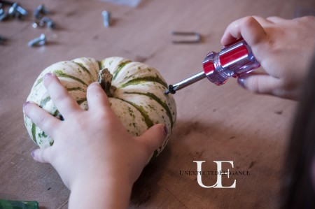 Decorating Halloween Pumpkin Craft at Unexpected Elegance (1 of 1)