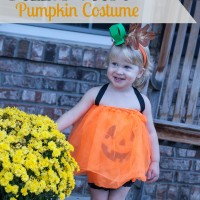 Dollar Store Pumpkin Halloween Costume at Unexpected Elegance