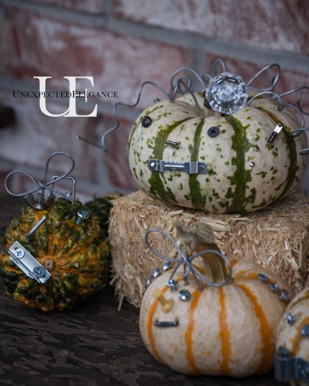 Industrial Halloween Pumpkin Craft at Unexpected Elegance (1 of 1)