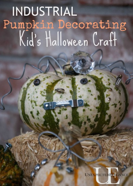 Industrial Halloween Pumpkin Craft at Unexpected Elegance