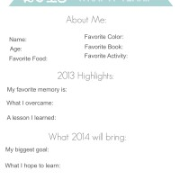 2013 in Review Printable