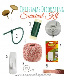 Christmas Decorating Survival Kit from Unexpected Elegance