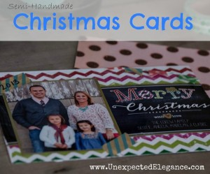 Embellishing Walgreens Printed Christmas Cards #shop