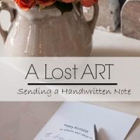 A Lost Art Sending a Handwritten Note