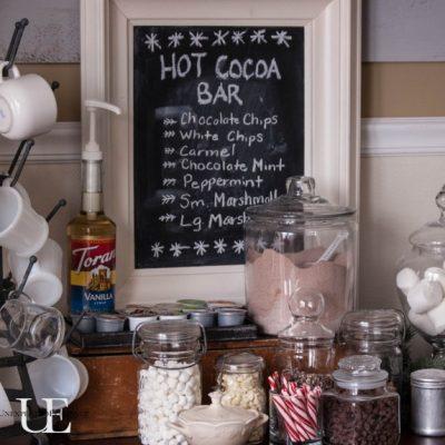 Creating a Cozy Home:  Hot Cocoa Bar