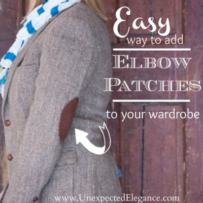 Easy Way to Add Elbow Patches to Your Wardrobe