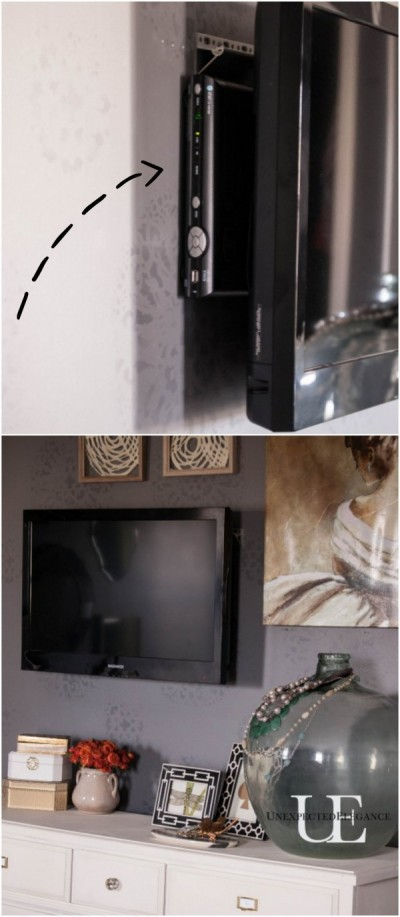 how to mount a tv and hide the cords. Black Bedroom Furniture Sets. Home Design Ideas