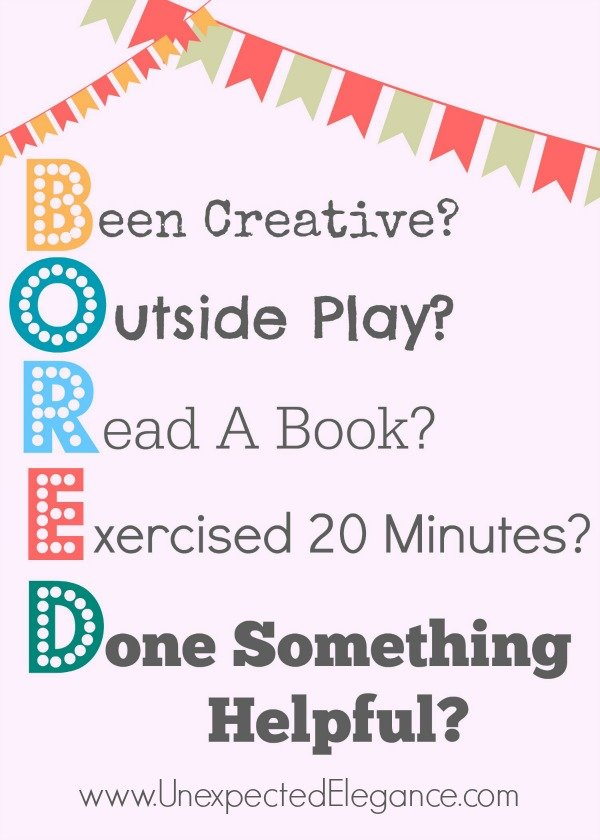 Bored Free Printable Perfect Reminder For Your Kids