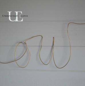 Anthro Knock-Off:  Wire Script Sculpture