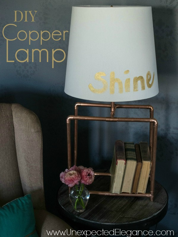 DIY Copper Table Lamp and GE Light #LEDSavings #shop