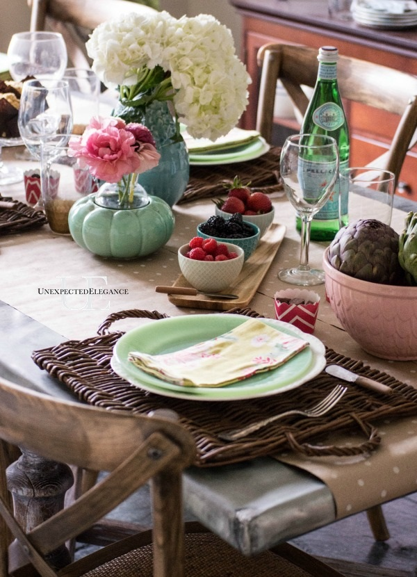 Our Spring Dining Room: Unexpected Elegance