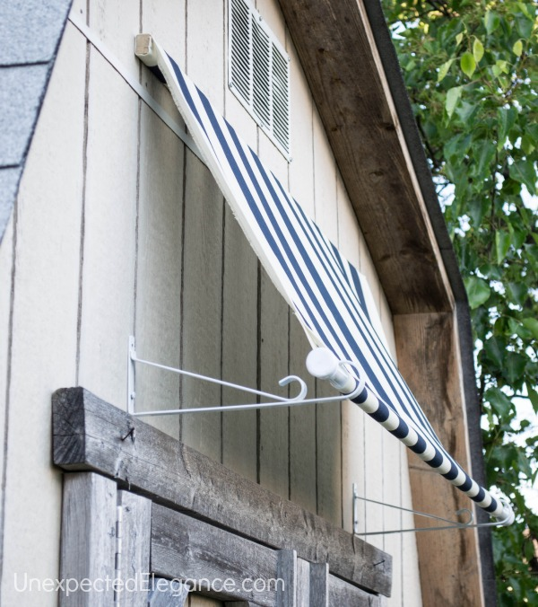 DIY Shed Awning {Quick and EASY} - Unexpected Elegance