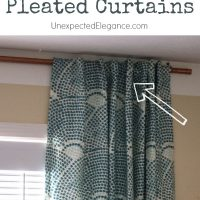 Easy DIY Pleated Curtains