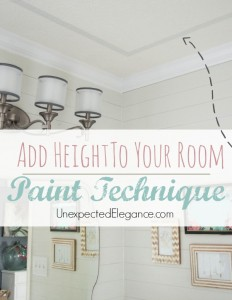 Easily Add Interest to Your Ceiling and Height to a Room with this EASY Paint Technique