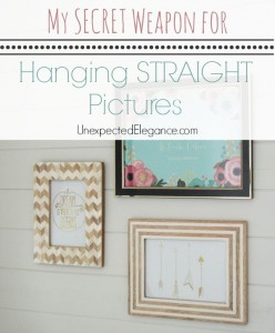 My SECRET Weapon | How to Hang a STRAIGHT Picture