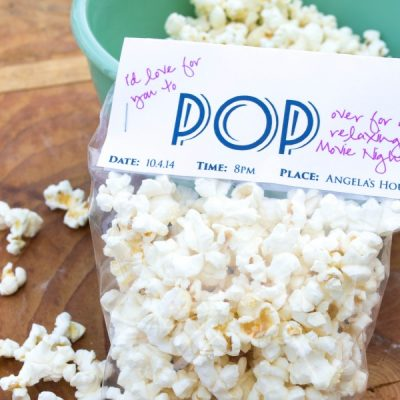 Girl's Movie Night with a Snacking Favorite | PLUS FREE PRINTABLE INVITE