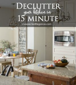 Get Your Kitchen Free of Clutter in ONLY 15 Minutes