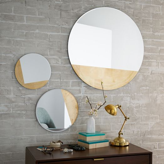 EASY DESIGNER DECOR | DIY Gold Geometric Mirrors ...