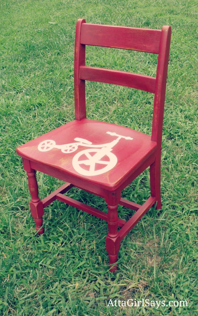 Milk-Paint-Red-Tricycle-Chair-643x1024
