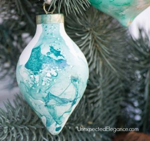 DIY Watercolor Ornamanets Using Nail Polish-1-6