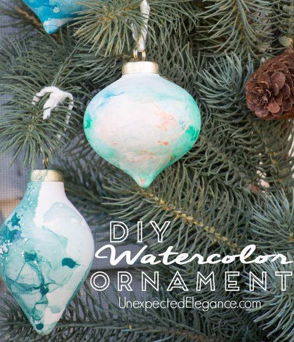 QUICK Handmade Watercolor Ornament