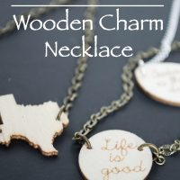 DIY Wooden Charm Necklace.  Perfect for gift giving.