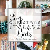 Cheap Christmas Storage Hacks