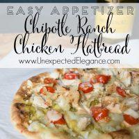 Chipotle Ranch Chicken Flatbread and Mirassou Chardonnay
