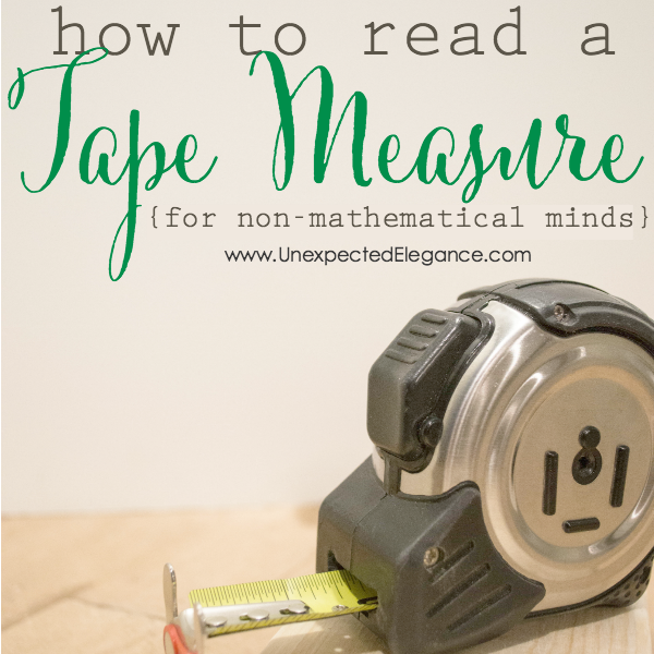 How To Read A Tape Measure For The Non Mathematical Mind