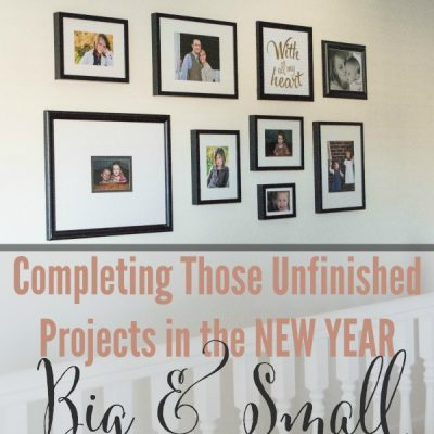 Completing Those Unfinished Projects in the NEW YEAR | Hall  Photo Collage