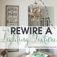How to rewire a hanging light fixture