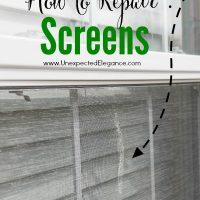 How to Repair Screens