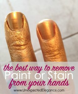 The best way to remove paint or stain from your hands