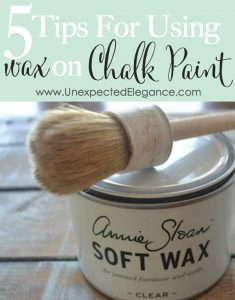 5 Tips for Using Wax on Chalk Paint