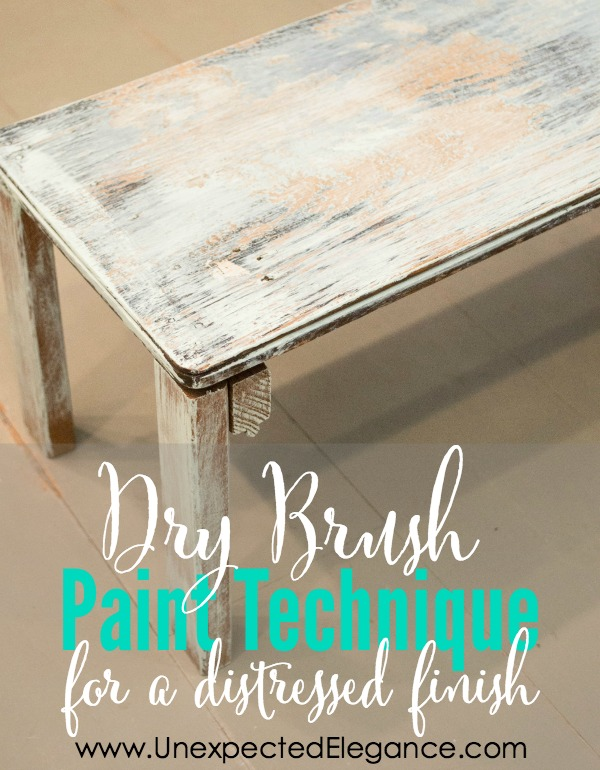 See just how quick and easy this DRY BRUSH paint technique can transform a piece.  You can paint an entire piece in a matter of minutes!