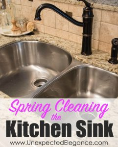 Spring Cleaning the Kitchen Sink